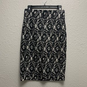 Worthington  Lace Look Pencil Skirt Size